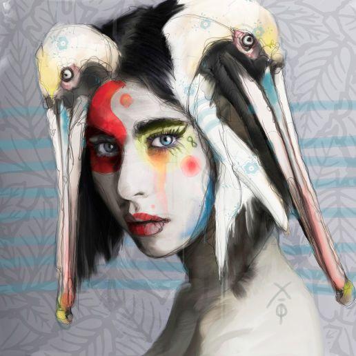 Pelican Girl by Martin Pop
