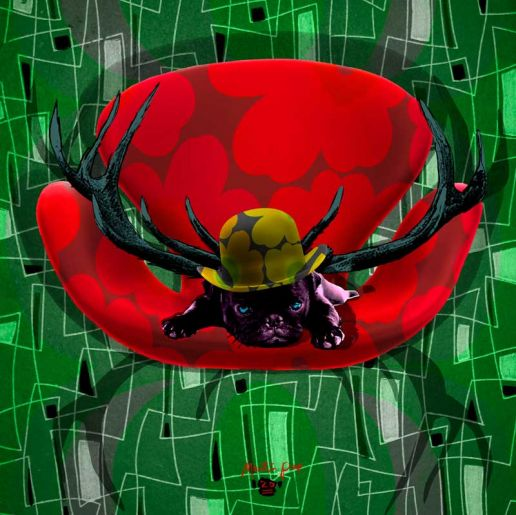 Sjov popkunst af kunstmaler Martin Pop